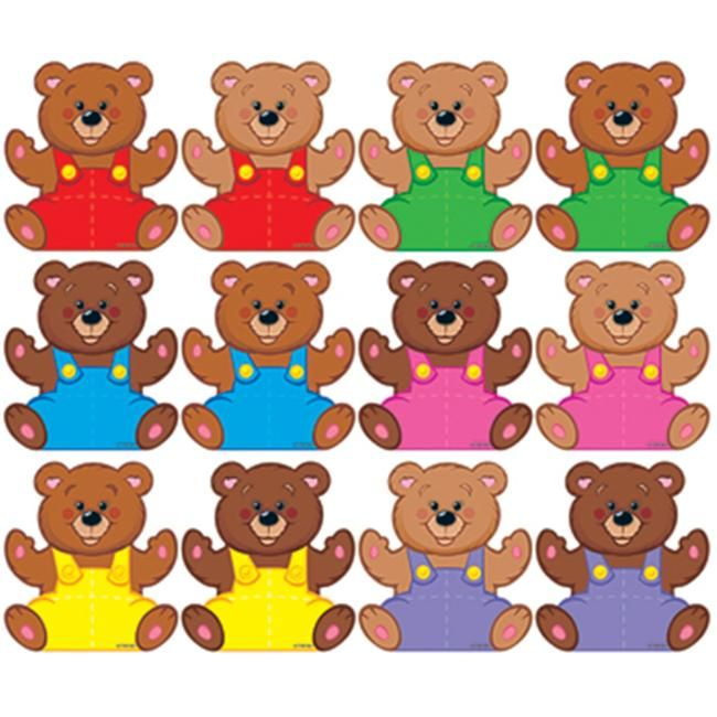 Trend Enterprises T 10820 Classic Accents Mini Bears Variety Pk Knuffel Thema Berenjacht