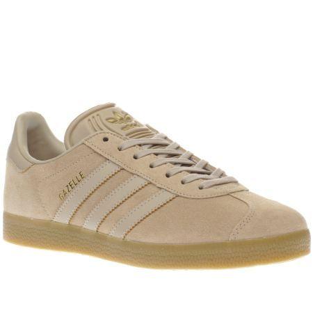 womens adidas beige adi gazelle gum trainers