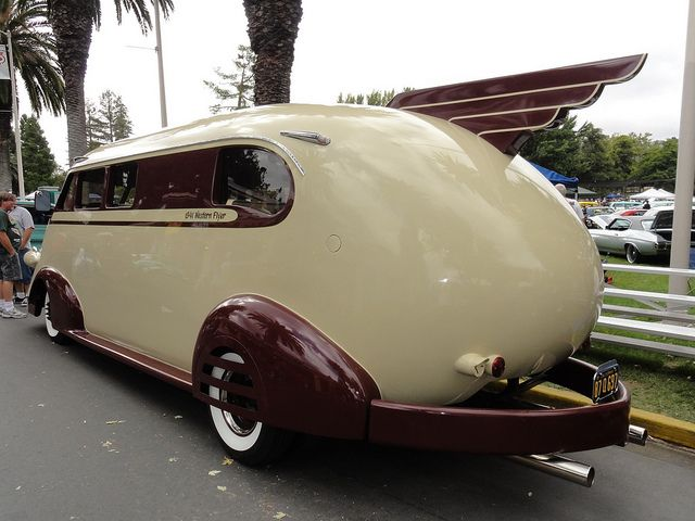 1941 Western Flyer Motorhome by pedrovonpetrol, via Flickr. Not a rat rod but seems custom and is very cool.