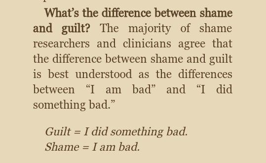 Shame vs Guilt: Brene Brown, The Gifts of Imperfection