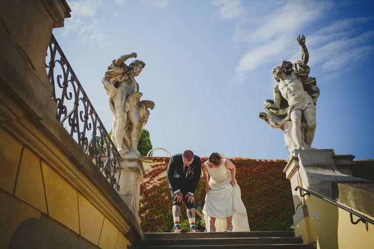 a couple from New Zealand share a laugh at Prague's Vrtbovska Garden (Zahrada) www.KurtVinion.com