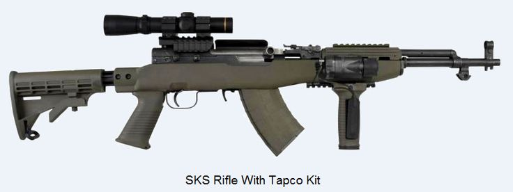 SKS Rifle With Tapco Kit