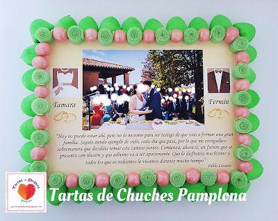 Tartas de Chuches Pamplona : Tarta de chuches y chocolates con foto
