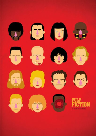 'Pulp fiction' tribute poster by Olaf Cuadras on The Bazaar