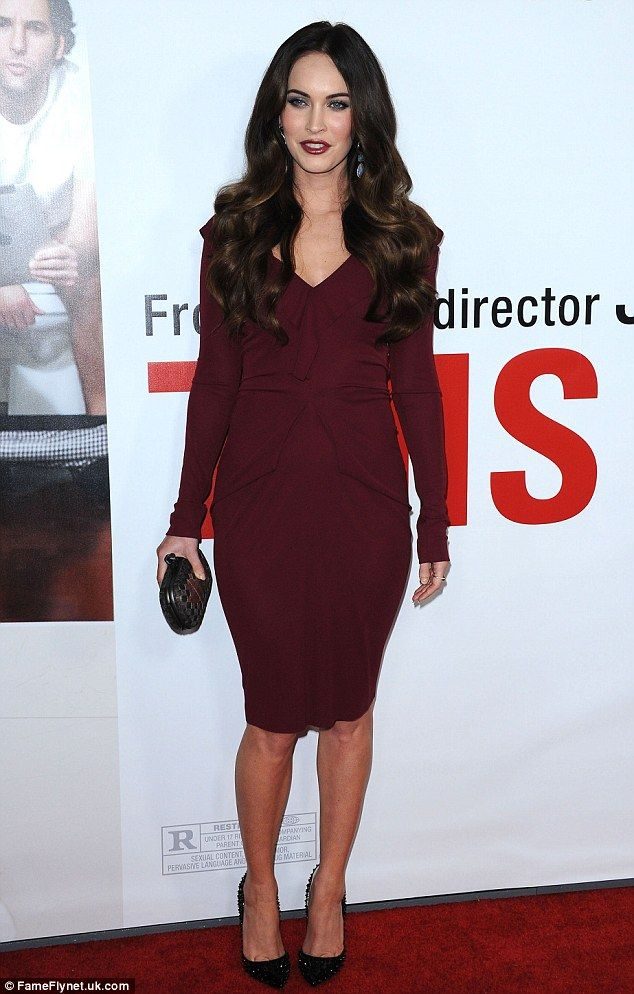 This is 26: Megan Fox, star of This is 40, dazzles on the red carpet in a clingy dress