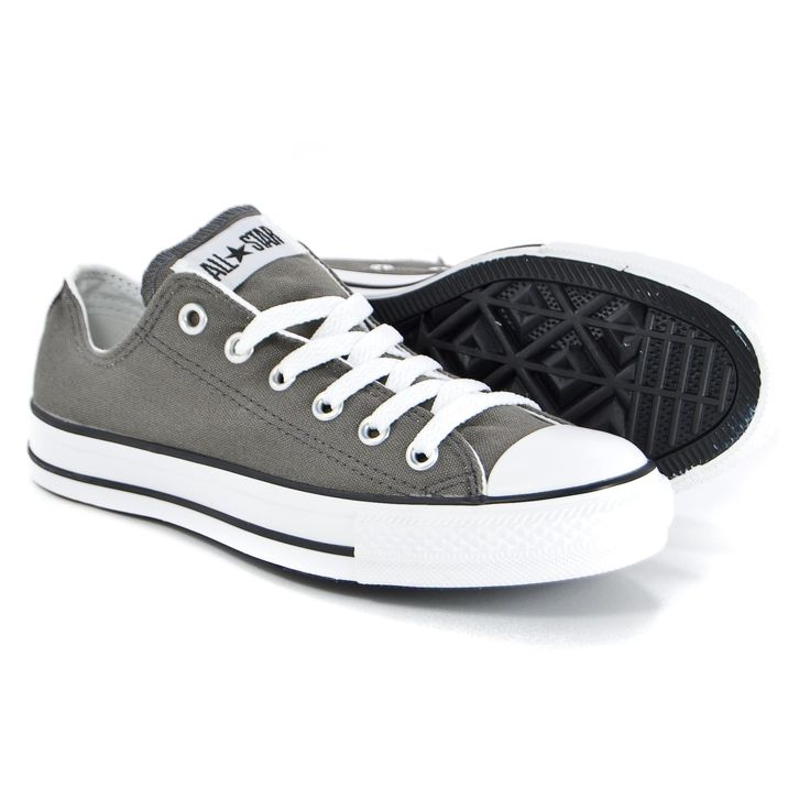 CONVERSE CHUCK TAYLOR LOW TOP CHARCOAL (grey) CANVAS NEW IN BOX FOR KIDS  (3J794). Kids Converse ShoesGray ConverseConverse All StarAdidas ...