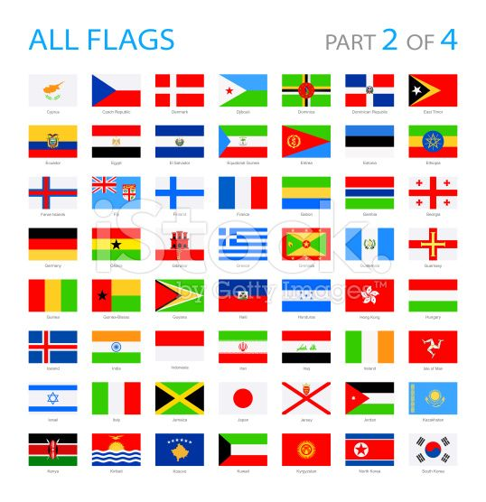All World Flags - Illustration royalty-free stock vector art