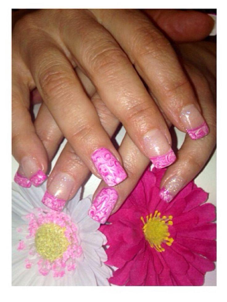 Marbling #pink # pretty #nailsbyme