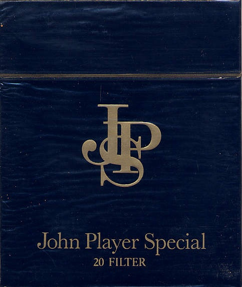 JPS (John Player Special) back when cigarettes were cool