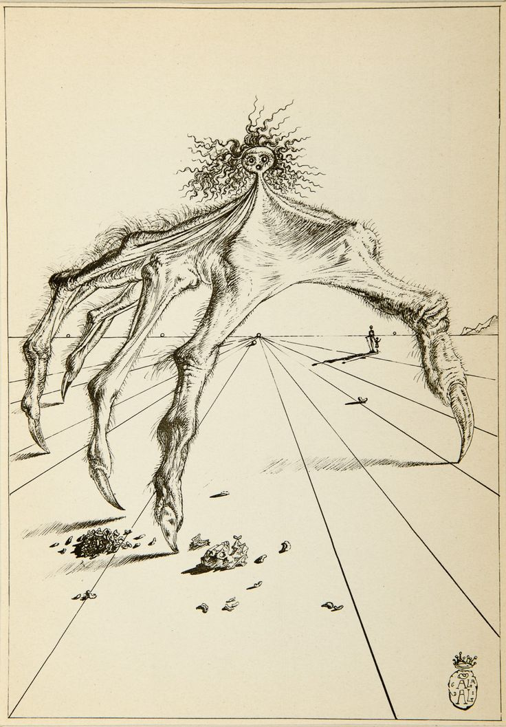 Salvador Dali, The Hairy Hand (1944) [From Fantastic Memories by Maurice Sandoz Illustrated by Salvador Dali] #drawing #art #artmarket #limitededition #artistoftheday #fineart #buyart #dali #illustration #surrealism #hand