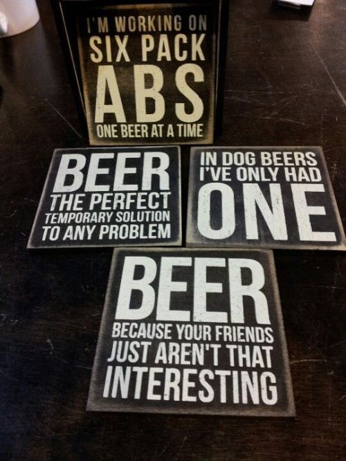 Valentine's gifts for him: Beer Coaster set $20 - order online!