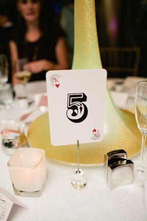 playing card table number. photo by megruth.com