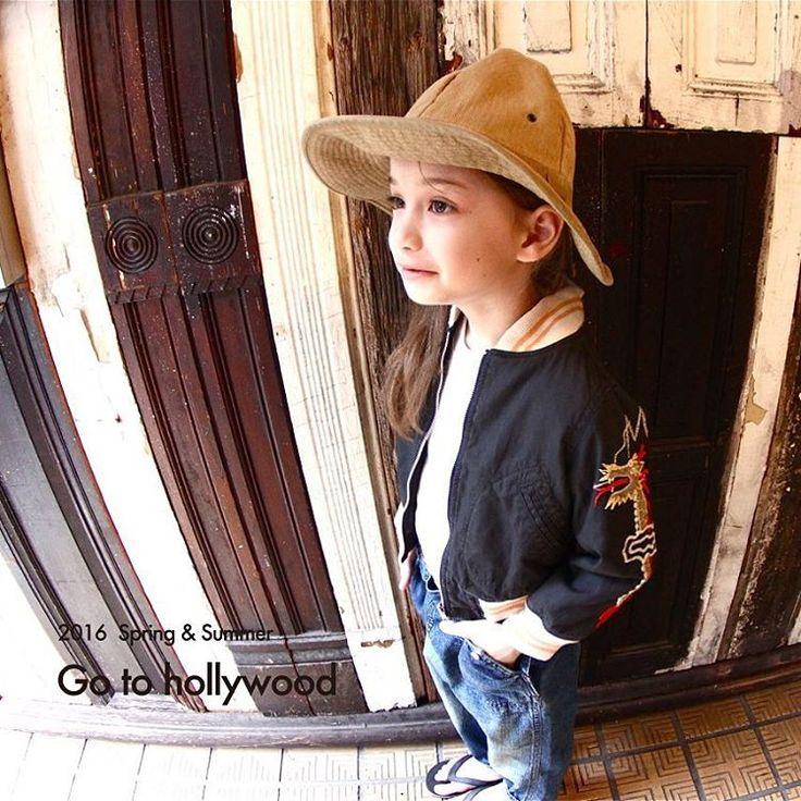 . 2016 SPRING SUMMER NEW CATALOG 【Go To Hollywood】 2016.01.29(FRI) release! . Hat No.1462004 Color:Beige Size:50~58cm ¥4,900 coming soon...!! . Jacket No.1262208 Color:Black Size:100~160cm ¥18,900~ . Denim Pants No.1262604 Color:Blue Size:100~160cm ¥11,900~
