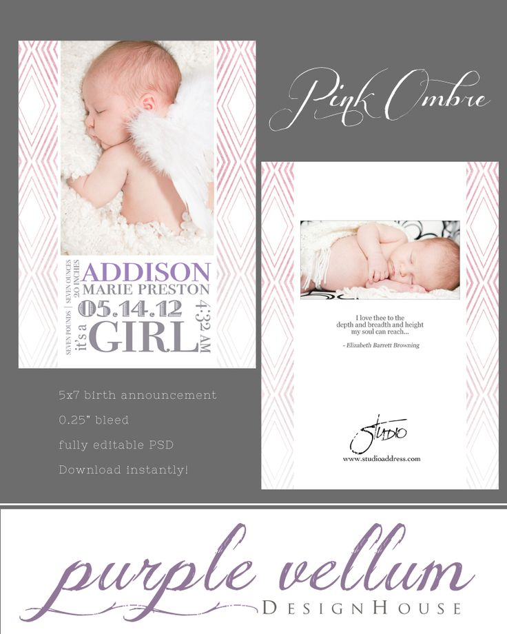free online birth announcement templates - 26 best birth announcements images on pinterest baby