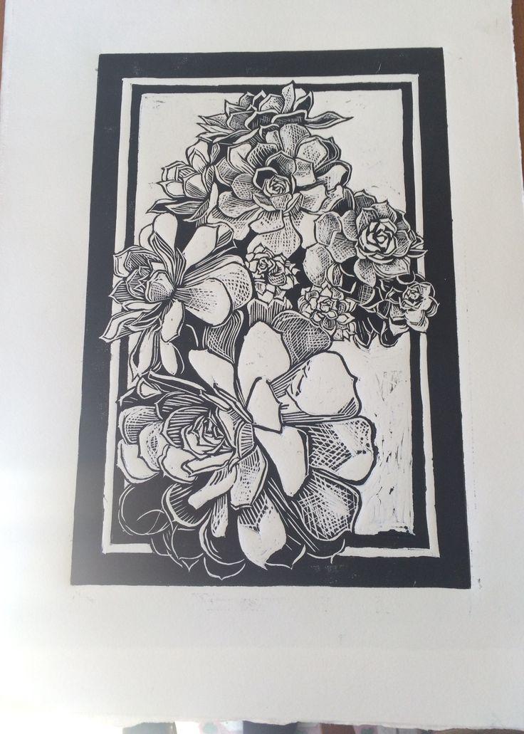 Linocut #linocut #linografía #grabado #printing #flowers #flores #flor #flower