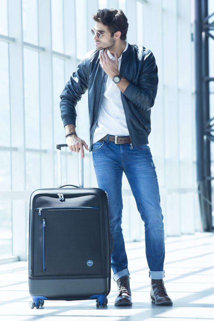 Vélez for Leather Lovers | Vélez Travel And Business Maleta gris con azul Ref: 1011476