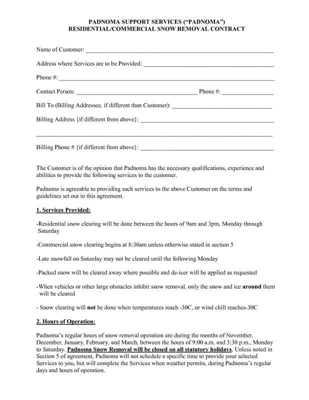 Snow Removal Agreement Template from i.pinimg.com