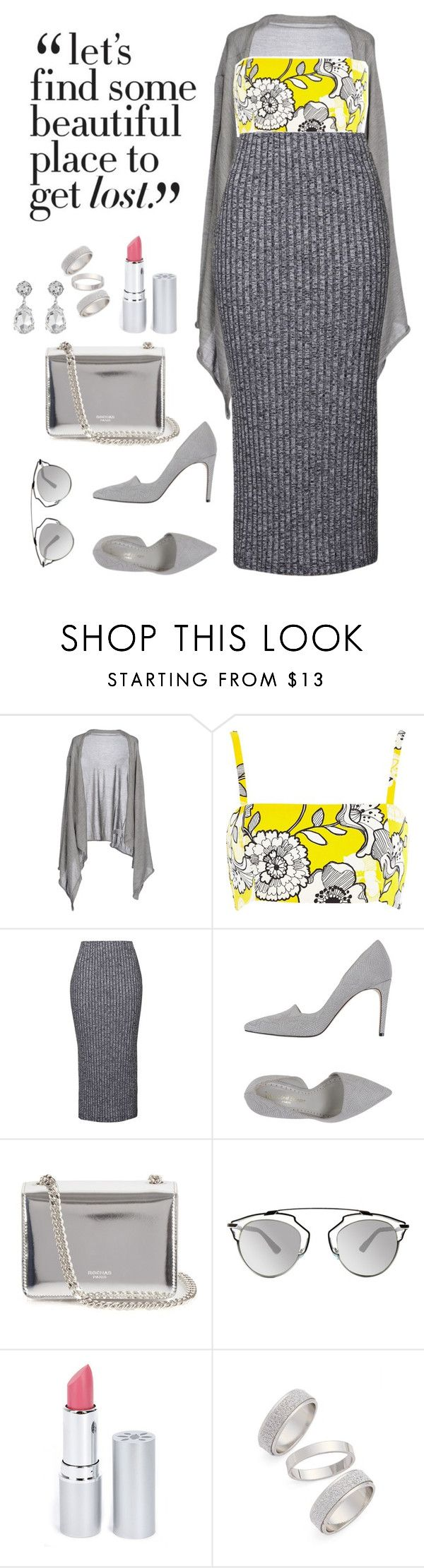 """""""Beautiful Place"""" by yasimaryam on Polyvore featuring Dolce&Gabbana, River Island, Topshop, Jean-Michel Cazabat, Rochas, Christian Dior, HoneyBee Gardens, Kenneth Jay Lane, women's clothing and women"""