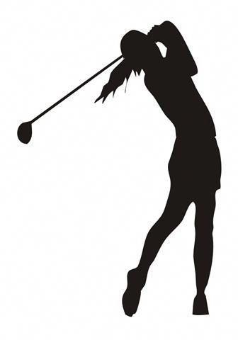 Female Golfer Silhouette 4 Decal Sticker Golf Humor Golf