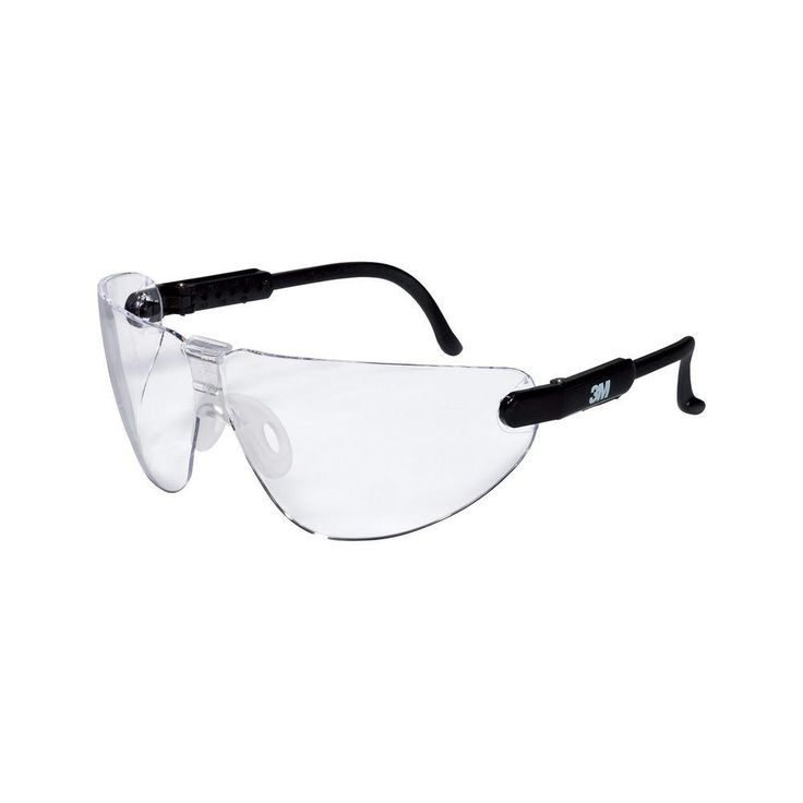 Black frame with clear lenses professional safety glasses
