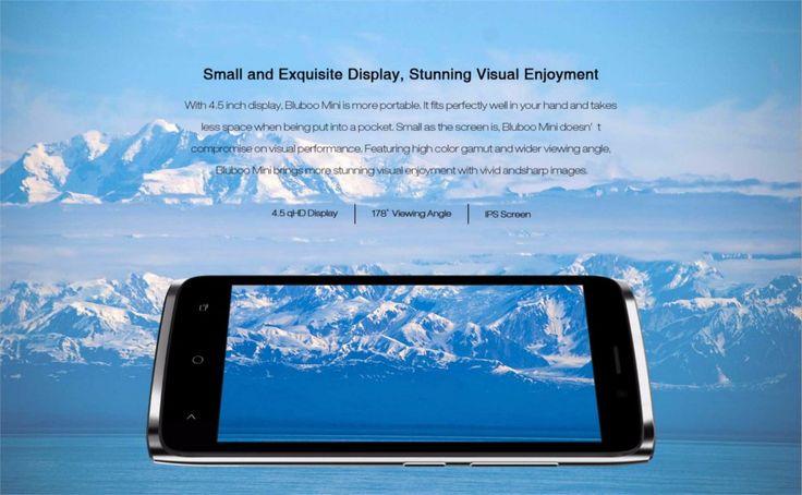 Bluboo Mini 4.5 Inch 1G RAM 8G ROM MTK6580 3G Android 6.0 Quad Core Smartphone