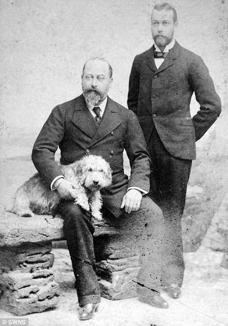 HRH Prince of Wales with Venus his dog and The Duke of York   Read more: http://www.dailymail.co.uk/news/article-2599639/Photo-album-Victorian-Englands-great-good-owned-fugitive-Lord-Lucan-goes-auction.html#ixzz2yJlpLQIx  Follow us: @MailOnline on Twitter | DailyMail on Facebook