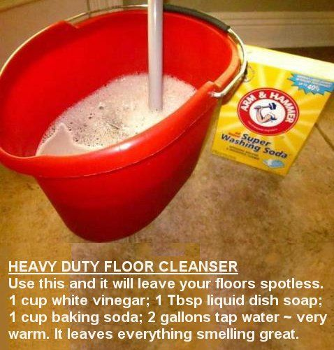 DIY: Homemade HEAVY DUTY FLOOR CLEANSER