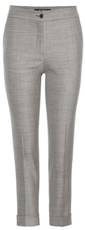 Etro Wool And Silk Cropped Trousers