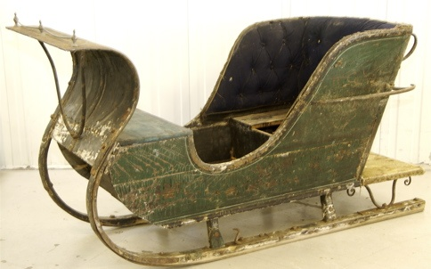 Antique sleigh.