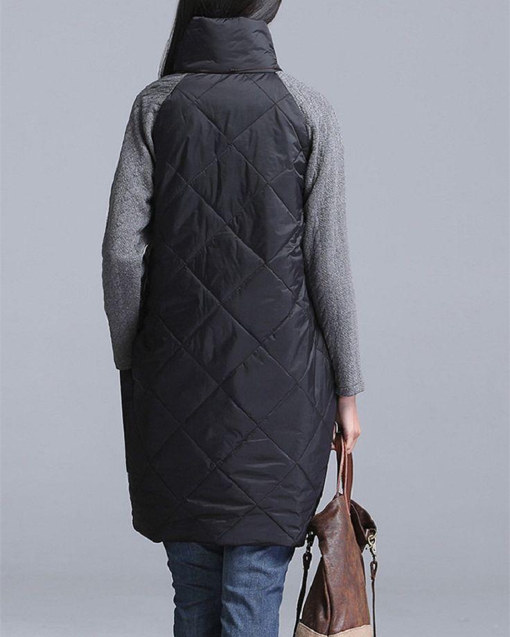 2016 Plus Size Autumn Winter Women Dress M-3XL Turtleneck Casual Loose Patchwork Robe Cotton Soft Black Gray Red Tunic Vestidos
