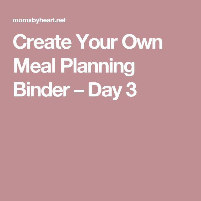 1000 Ideas About Meal Planning Binder On Pinterest
