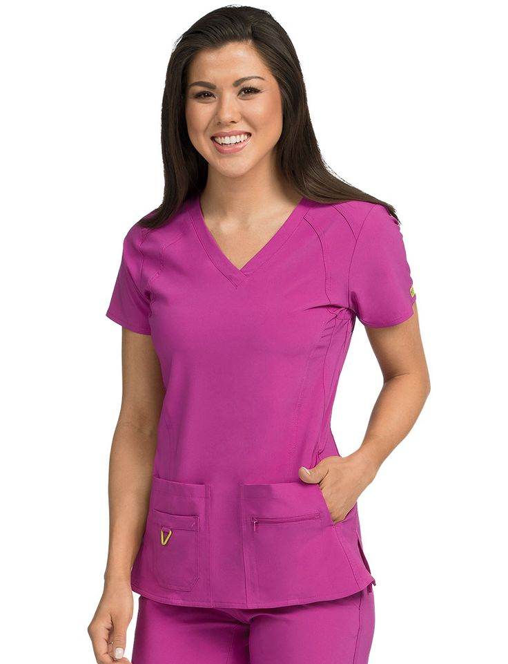 Med Couture Activate Refined Scrub Top