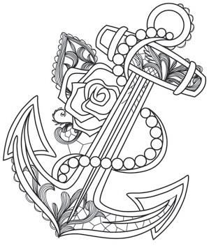 aquarius anchor_image - Anchor Coloring Page