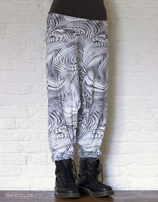 Psychedelic, tekno, goa harem pants made by Teknicolor