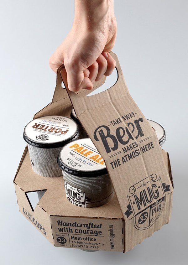 A Concept For A Takeaway Beer Four Pack That Retains The Form Of The  Traditional Beer Pint Using Recyclable Paper Cups. Designed By Ivan Maximov  For The Ru.