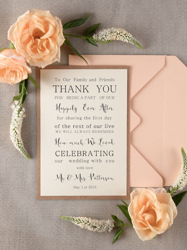 what do you say on wedding invitation%0A The best way to say  u    THANK YOU u     to your wedding guests