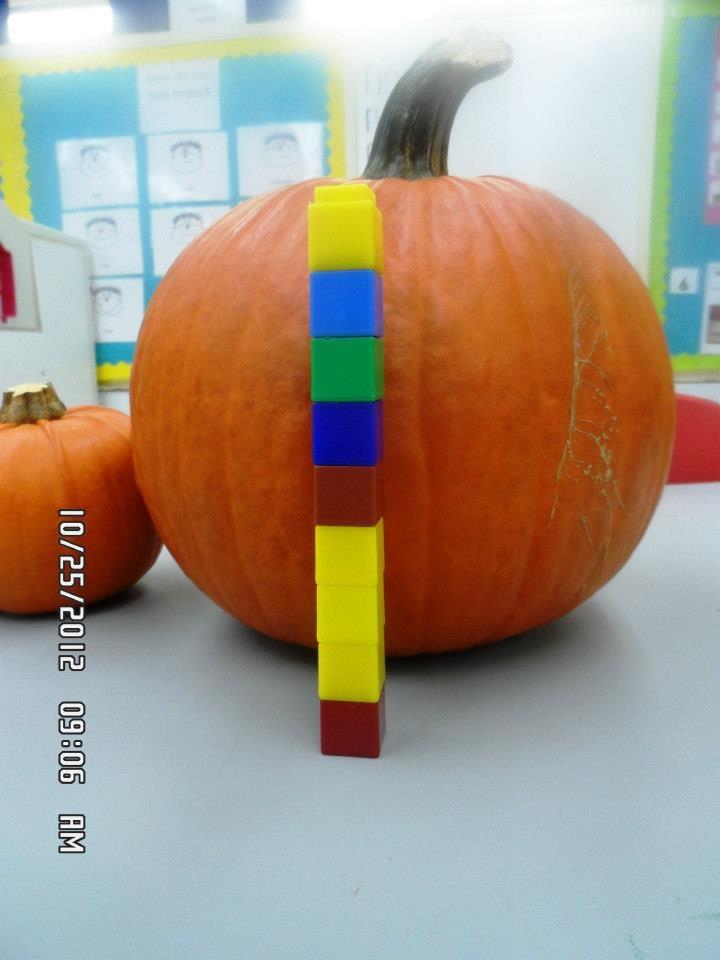 Measuring pumpkins with unifix cubes   Harvest, Farm ...