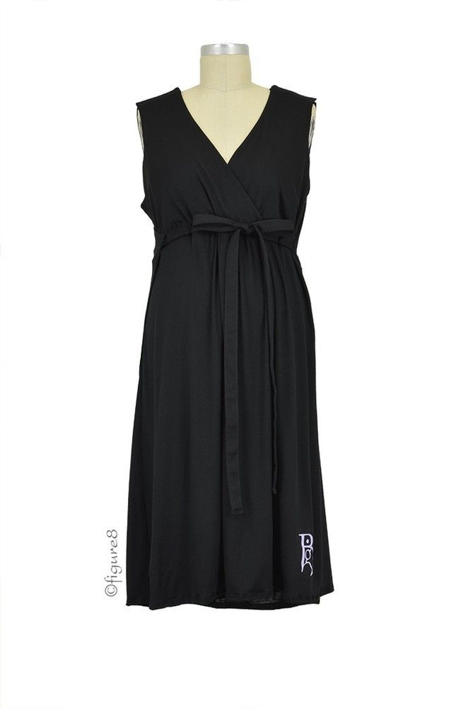 The Nightie-Night BG Birthinggown (with Pockets) in Black by B&G Birthingown with free shipping