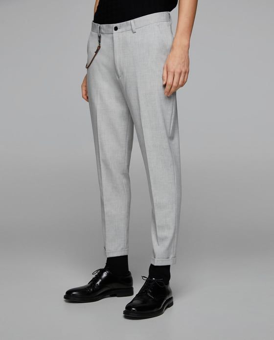 ee97d5e5 Image 2 of LOOSE CARROT FIT TROUSERS from Zara | pantalones de hombre |  Workout pants, Trousers, Pants