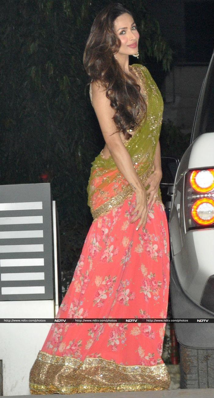 Malaika Arora Khan cut a pretty picture in a Seema Khan creation.