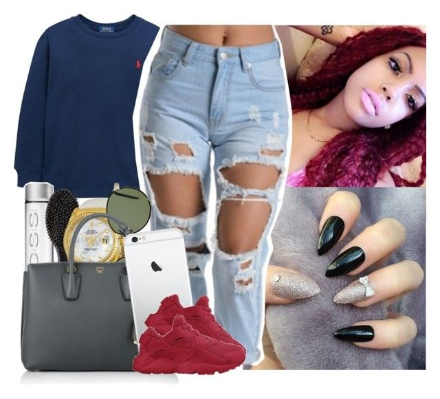 """❤️❤️❤️"" by saucinonyou999 ❤ liked on Polyvore featuring Ralph Lauren, Sephora Collection, Rolex, A.J. Morgan, MCM and NIKE"