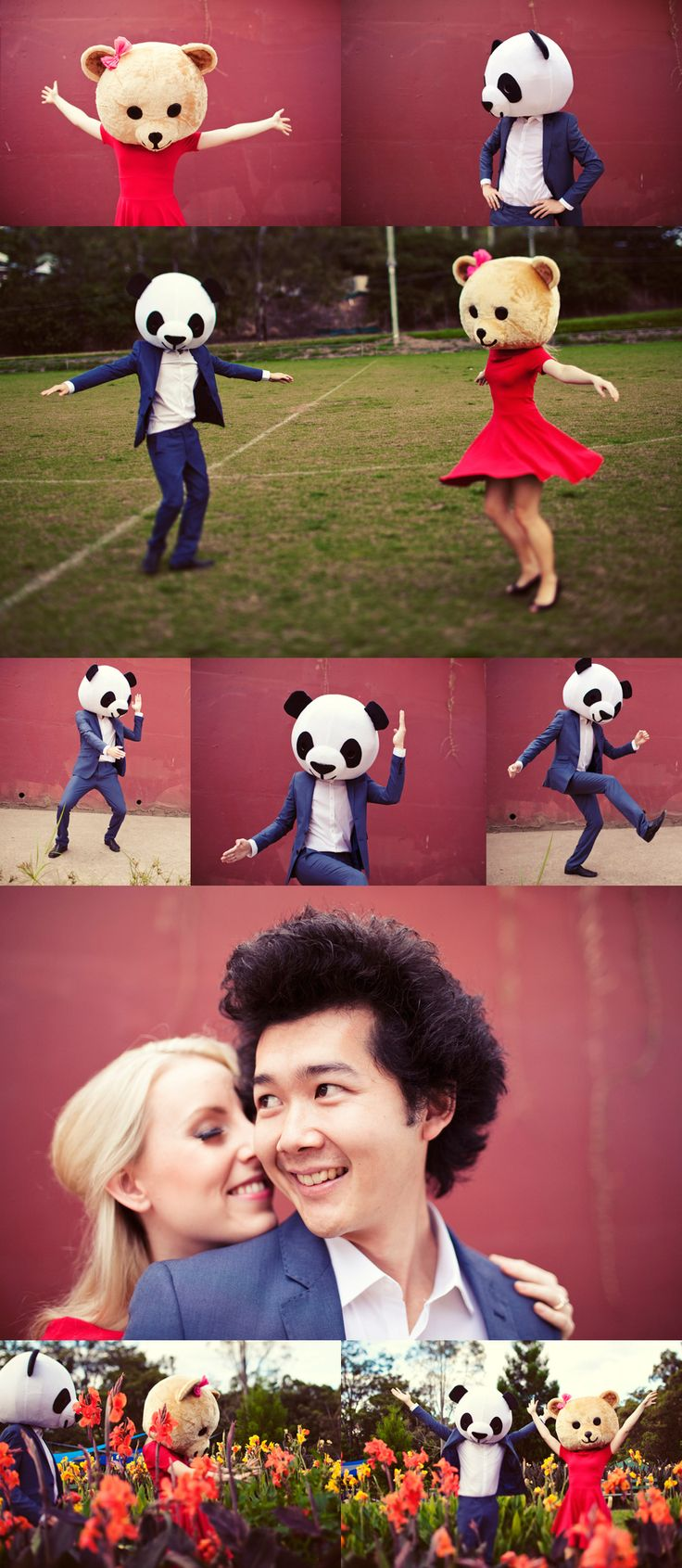 Panda & bear for the engagement. Love.