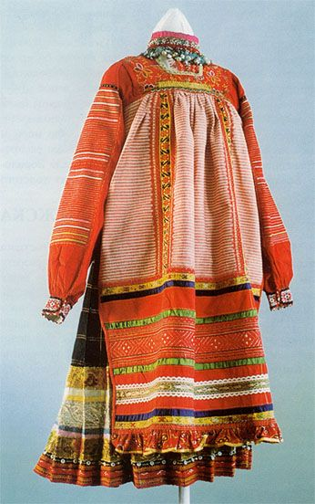...skirt & blouse, Russian, History of Beauty, History of Russian Costume...