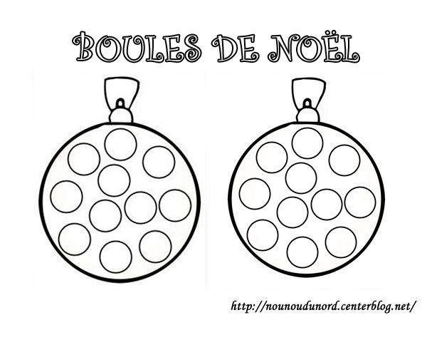 Boule De Noel Coloriage