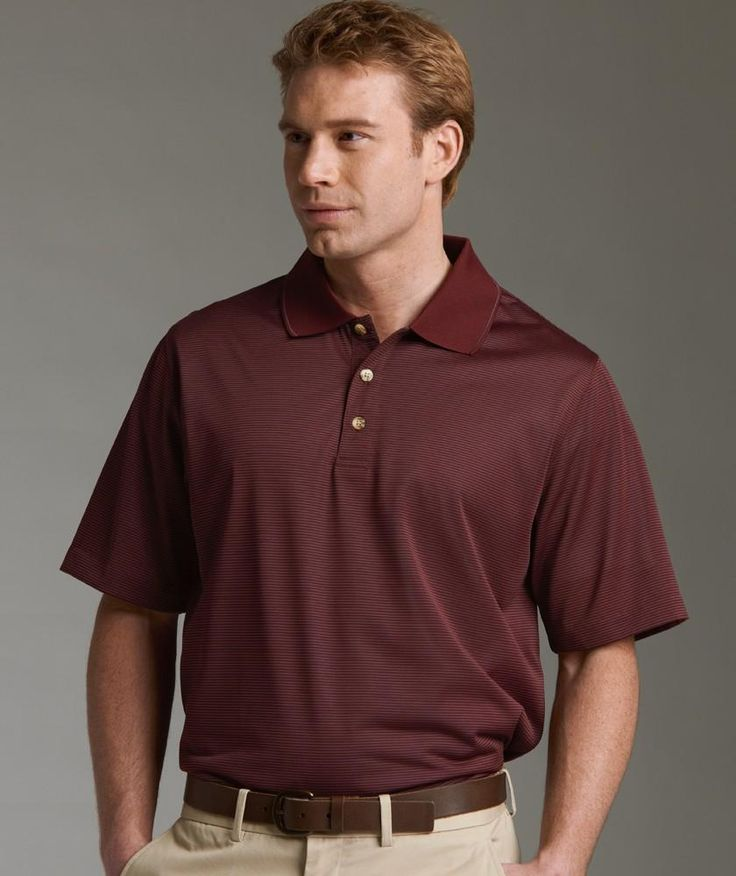 Charles River Apparel Style 3160 Men's MicroStripe Polo - SweatshirtStation.com #CharlesRiverApparel #microstripe #poloshirt