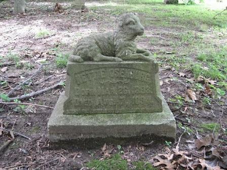 Chippiannock cemetery in Rock Island, IL. A sad memorial to a child.