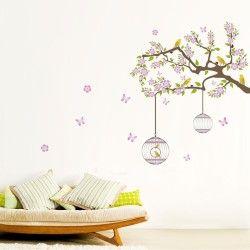 Bird's nest! Snyggt väggdekor som föreställer ett träd och två fågelburar. Motivet ger hemmet ett unikt utseende samtidigt som den förmedlar en harmoni. Passa på och fynda nu!  Länk till produkt: http://www.feelhome.se/produkt/birds-nest/    #Homedecoration #art #interior #design #Walldecor #väggdekor #interiordesign #Vardagsrum #Kontor #Modernt #vägg #inredning #inredningstips #heminredning #natur #träd #fågel #djur #lycka #fridfull