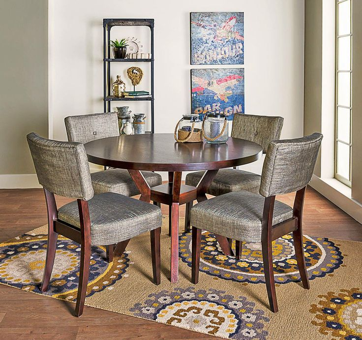 Elegant Animated Accessorizing Adds Adventure To The Macie Dining Set. Part 9