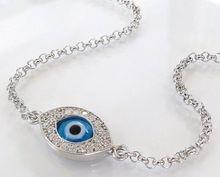 Protective Evil Eye Bracelet As Seen On Kim Kardashian And Kelly Ripa - NEW - Celebrity Style, Sterling Silver