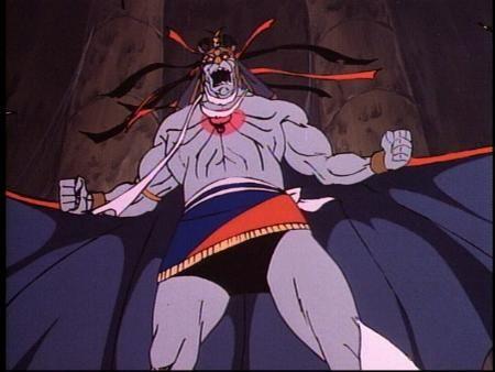 Mumm-Ra. El enemigo más poderoso de los ThunderCats. Es un sacerdote infernal, es el autoproclamado «el que no muere» y «el inmortal» del Tercer Planeta, tiene poderes de hechicero y una vida aparentemente eterna.